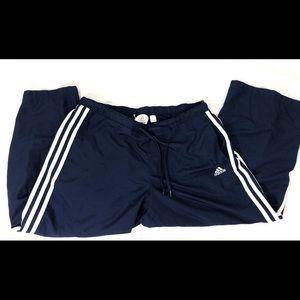 Adidas blue Capri pants
